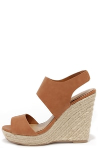 Jute Force Tan Espadrille Wedges at Lulus.com!
