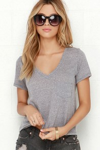High Dive Grey Burnout Crop Tee at Lulus.com!