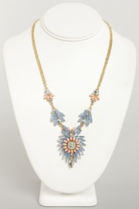 Carried Array Lavender Rhinestone Necklace