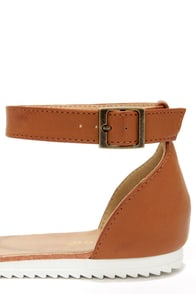 Bamboo Hearten 04 Chestnut Ankle Strap Sandals at Lulus.com!