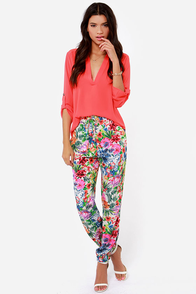 Island Sakes! Floral Print Pants