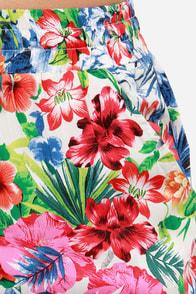 Island Sakes! Floral Print Pants at Lulus.com!