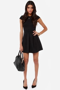 Black Swan Lily Black Dress at Lulus.com!