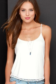 Lucy Love Have a Ball Ivory Tank Top at Lulus.com!