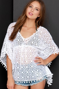 Bonfire Bonding Ivory Crochet Cover-Up at Lulus.com!
