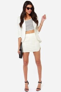 Natalie Mesh Ivory Mini Skirt at Lulus.com!