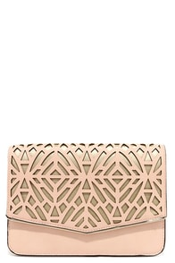 Metallic Touch Gold and Peach Clutch at Lulus.com!