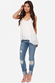 Go With the Flow Ivory Tank Top at Lulus.com!