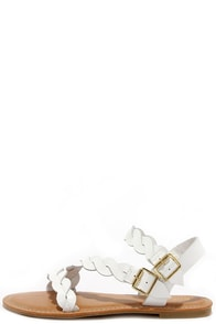 Best of the Twist White Ankle Strap Sandals at Lulus.com!