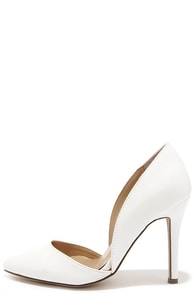 Make an Appearance White D'Orsay Pumps at Lulus.com!