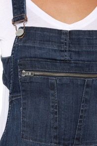 Blank NYC Crossover-All Distressed Denim Overalls at Lulus.com!