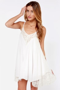 Sweet Dreams Ivory Lace Dress at Lulus.com!