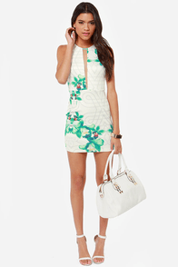 Lily of the Night Ivory Print Dress at Lulus.com!