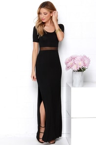 Detail Oriented Black Maxi Dress