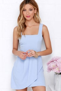 Chic Shenanigans Periwinkle Dress at Lulus.com!