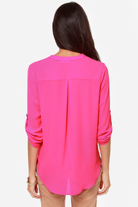 V-sionary Hot Pink Top at Lulus.com!