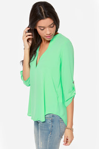 V-sionary Bright Mint Top at Lulus.com!