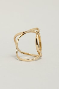 Bandleader Gold Knuckle Ring at Lulus.com!