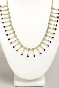 Jewel To Do Blue Rhinestone Necklace at Lulus.com!