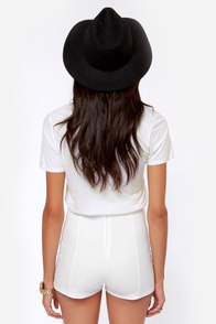 Hot Spot Ivory High-Waisted Shorts at Lulus.com!