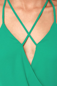 Cross My Mind Teal Bodysuit at Lulus.com!