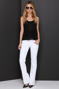 Wildflower Whisps White Bootcut Jeans at Lulus.com!