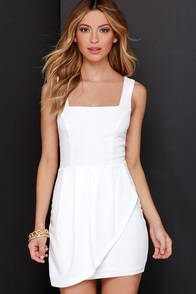 Chic Shenanigans Ivory Dress at Lulus.com!