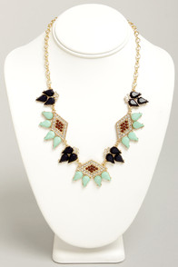 Jeweled All Along Mint Green Rhinestone Necklace at Lulus.com!