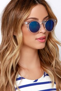 Vision of Love Clear Mirrored Sunglasses at Lulus.com!