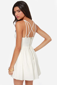 Can't Cage Me Ivory Dress at Lulus.com!