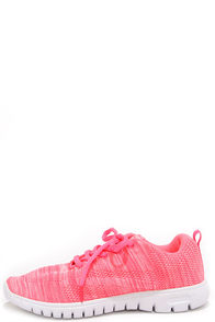 Training Days Neon Pink Sneakers at Lulus.com!