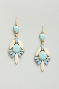 Way to Go Blue Dangle Earrings at Lulus.com!