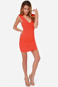 Seams Come True Red Orange Dress at Lulus.com!