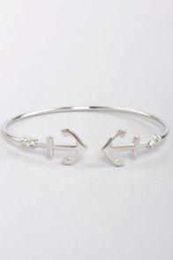 Nautical You Need Silver Rhinestone Bracelet at Lulus.com!