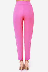 Give It Your All Fuchsia Pants at Lulus.com!