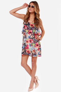 All About the Monet Floral Print Dress at Lulus.com!