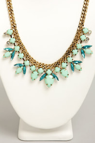 Old Hollywood Glamour Mint Green Necklace at Lulus.com!
