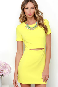 Vixen a Moment Yellow Dress at Lulus.com!
