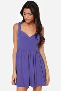 Tie by Night Backless Purple Dress at Lulus.com!