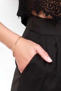 Snakes Sense Gold Chain Bracelet at Lulus.com!