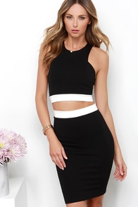 Evening in Monoch-Rome Black Two-Piece Dress at Lulus.com!