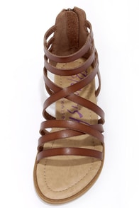 Blowfish Belona Whiskey Brown Gladiator Sandals at Lulus.com!