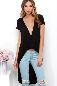 Swoop In Black High-Low Top at Lulus.com!