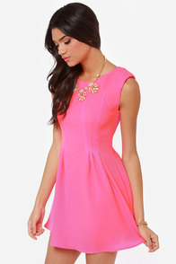 Glowing, Glowing, Gone Neon Pink Dress at Lulus.com!