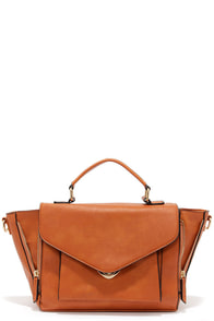 Satchel Up Tan Handbag at Lulus.com!