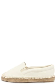Mist Connections Ivory Espadrille Flats at Lulus.com!