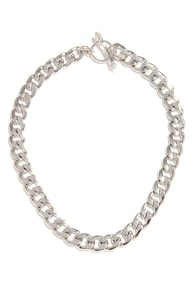 Glam Artist Silver Chain Necklace at Lulus.com!
