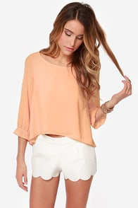 Best Day Ever Peach Top at Lulus.com!