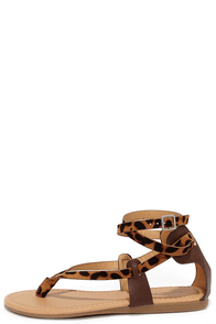 Back from Belize Leopard Print Thong Sandals at Lulus.com!
