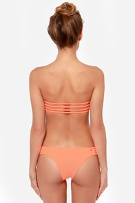 Braid in Full Orange Bandeau Bikini at Lulus.com!